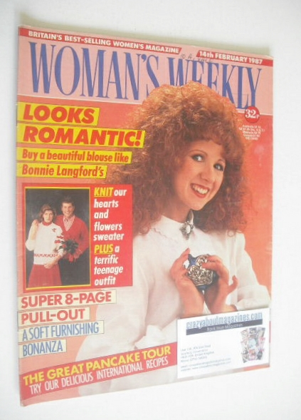 <!--1987-02-14-->Woman's Weekly magazine (14 February 1987 - Bonnie Langfor