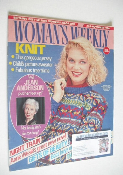 <!--1986-11-29-->Woman's Weekly magazine (29 November 1986 - British Editio