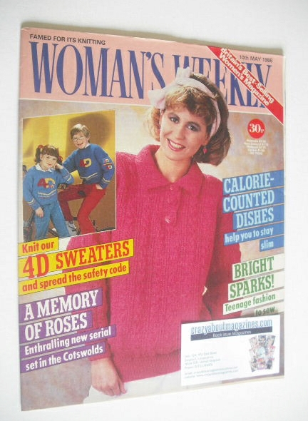 <!--1986-05-10-->Woman's Weekly magazine (10 May 1986 - British Edition)