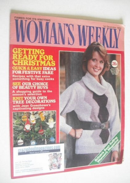<!--1984-12-01-->British Woman's Weekly magazine (1 December 1984 - British