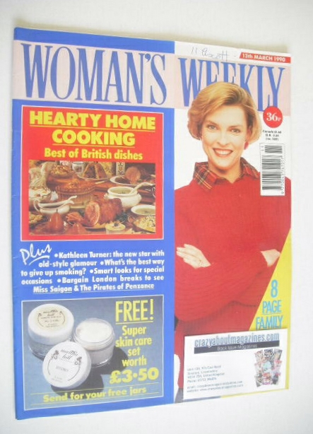 <!--1990-03-13-->Woman's Weekly magazine (13 March 1990)