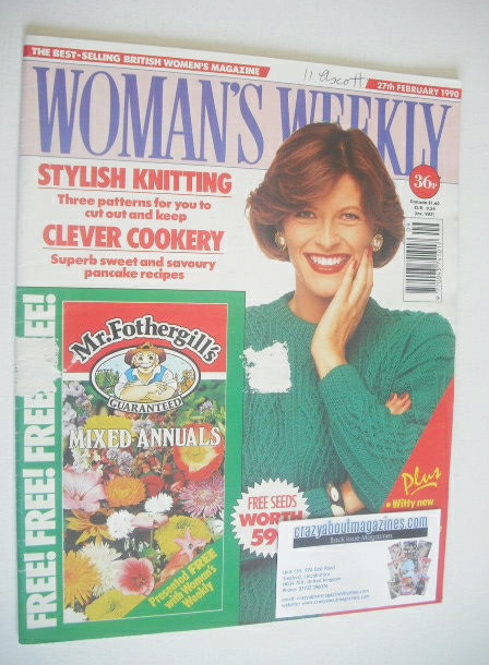 <!--1990-02-27-->Woman's Weekly magazine (27 February 1990)
