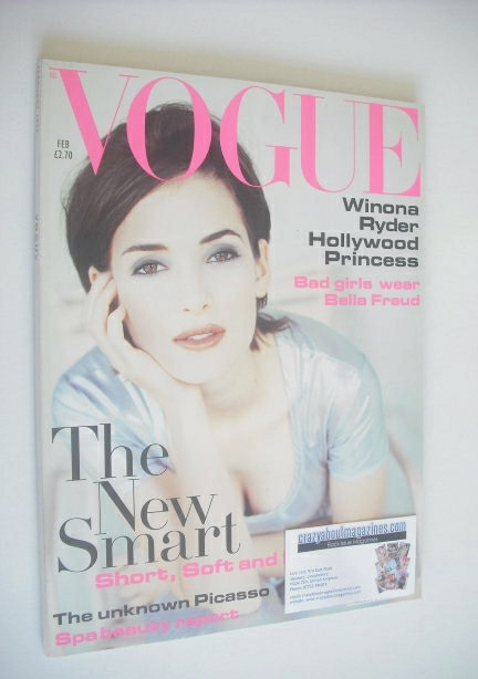 <!--1994-02-->British Vogue magazine - February 1994 - Winona Ryder cover