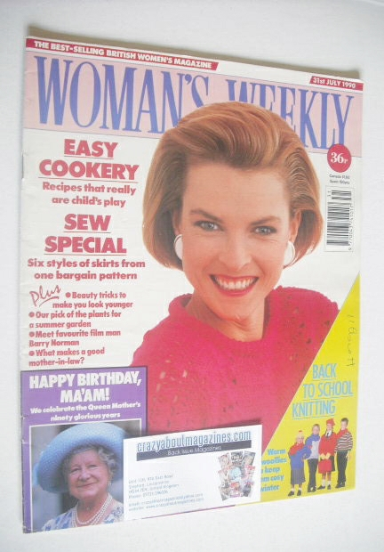 <!--1990-07-30-->Woman's Weekly magazine (31 July 1990)