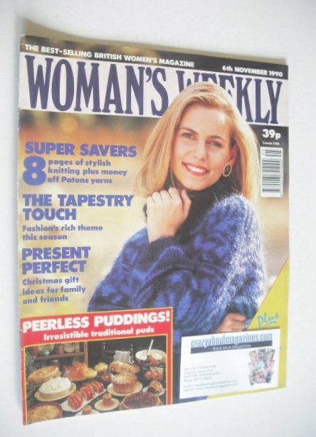 <!--1990-11-06-->Woman's Weekly magazine (6 November 1990)