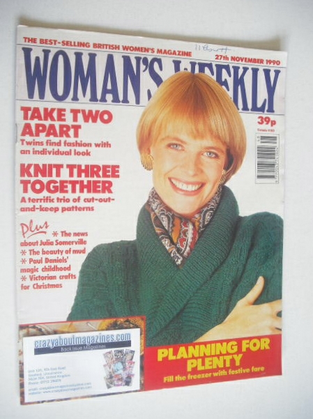 <!--1990-11-27-->Woman's Weekly magazine (27 November 1990)