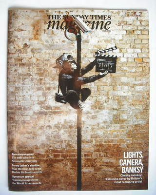 <!--2010-02-28-->The Sunday Times magazine - Banksy Cheeky Monkey cover (28