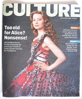 <!--2010-02-28-->Culture magazine - Mia Wasikowska (28 February 2010)
