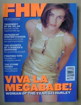 FHM magazine - Elizabeth Hurley cover (January / February 1995)