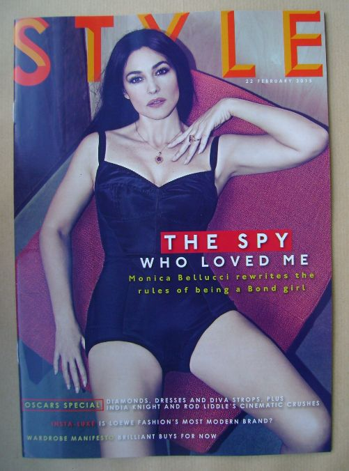 <!--2015-02-22-->Style magazine - Monica Bellucci cover (22 February 2015)