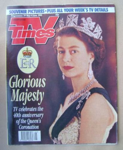 <!--1993-05-29-->TV Times magazine - The Queen cover (29 May - 4 June 1993)