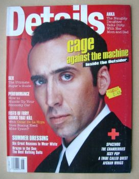Details magazine - June 1996 - Nicolas Cage cover