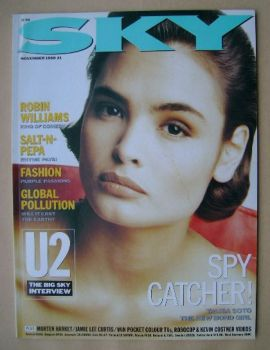 Sky magazine - Talisa Soto cover (November 1988)