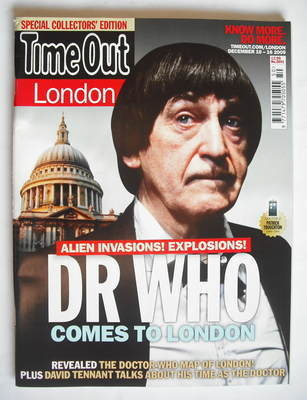 <!--2009-12-10-->Time Out magazine - Patrick Troughton cover (10-16 Decembe