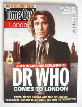 Time Out magazine - Paul McGann cover (10-16 December 2009)