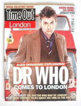 Time Out magazine - David Tennant cover (10-16 December 2009)