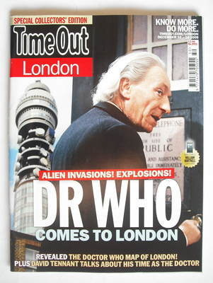 <!--2009-12-10-->Time Out magazine - William Hartnell cover (10-16 December