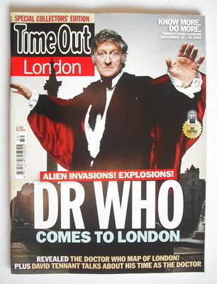 <!--2009-12-10-->Time Out magazine - Jon Pertwee cover (10-16 December 2009