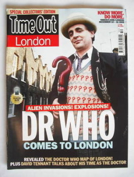 Time Out magazine - Sylvester McCoy cover (10-16 December 2009)