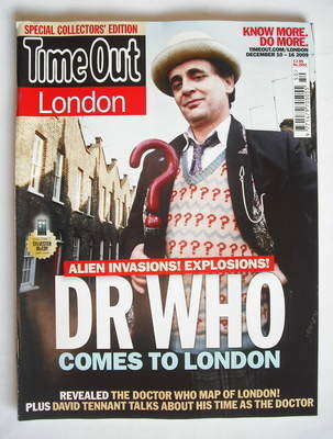 <!--2009-12-10-->Time Out magazine - Sylvester McCoy cover (10-16 December