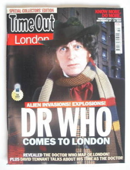 Time Out magazine - Tom Baker cover (10-16 December 2009)