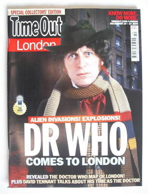 <!--2009-12-10-->Time Out magazine - Tom Baker cover (10-16 December 2009)