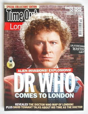 <!--2009-12-10-->Time Out magazine - Colin Baker cover (10-16 December 2009