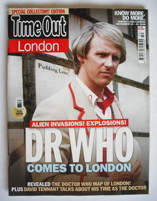<!--2009-12-10-->Time Out magazine - Peter Davison cover (10-16 December 20