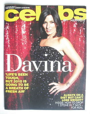 <!--2010-01-03-->Celebs magazine - Davina McCall (3 January 2010)