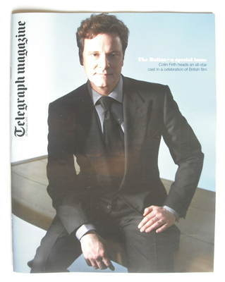 <!--2010-02-20-->Telegraph magazine - Colin Firth cover (20 February 2010)