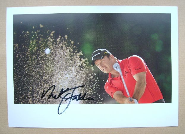 Nick Faldo autograph