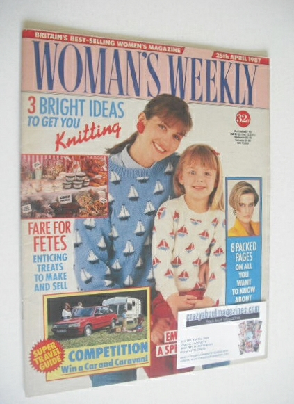 <!--1987-04-25-->Woman's Weekly magazine (25 April 1987)