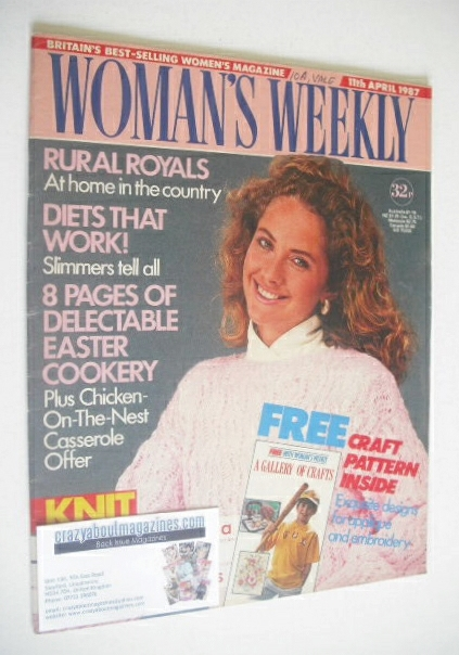<!--1987-04-11-->Woman's Weekly magazine (11 April 1987)