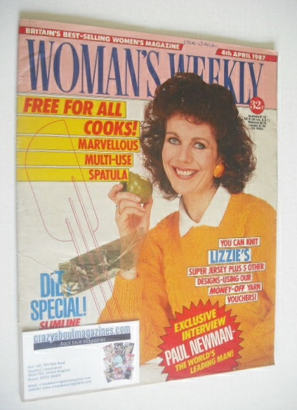 <!--1987-04-04-->Woman's Weekly magazine (4 April 1987 - Lizzie Webb cover)
