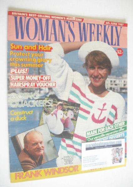 <!--1987-06-06-->Woman's Weekly magazine (6 June 1987)