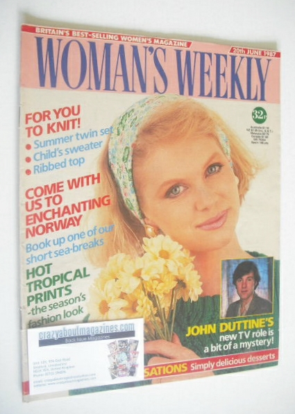 <!--1987-06-20-->Woman's Weekly magazine (20 June 1987)
