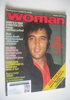 Woman magazine - Elvis Presley cover (6 January 1979)