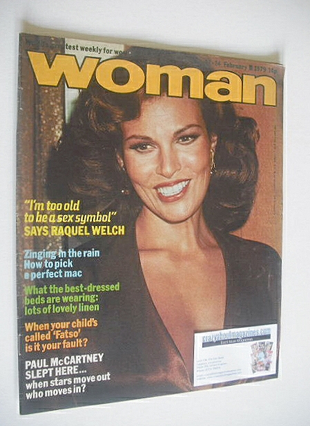 <!--1979-02-17-->Woman magazine - Raquel Welch cover (17-24 February 1979)