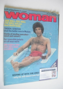 Woman magazine - Tom Jones cover (17 March 1979)