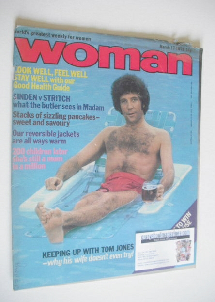 <!--1979-03-17-->Woman magazine - Tom Jones cover (17 March 1979)