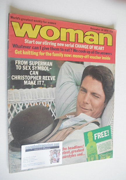 <!--1979-11-10-->Woman magazine - Richard Gere cover (10 November 1979)