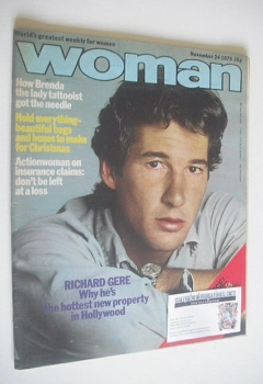 Woman magazine - Richard Gere cover (24 November 1979)