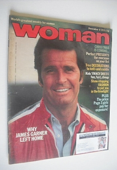 Woman magazine - James Garner cover (8 December 1979)