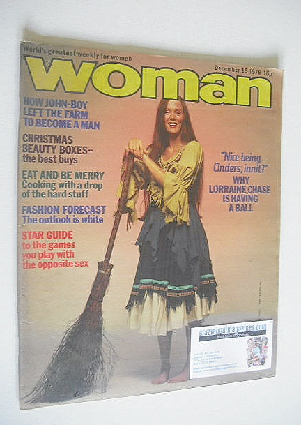 <!--1979-12-15-->Woman magazine - Lorraine Chase cover (15 December 1979)