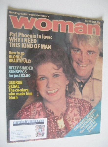 <!--1981-05-16-->Woman magazine - Pat Phoenix cover (16 May 1981)