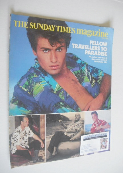 <!--1984-08-05-->The Sunday Times magazine - George Michael cover (5 August