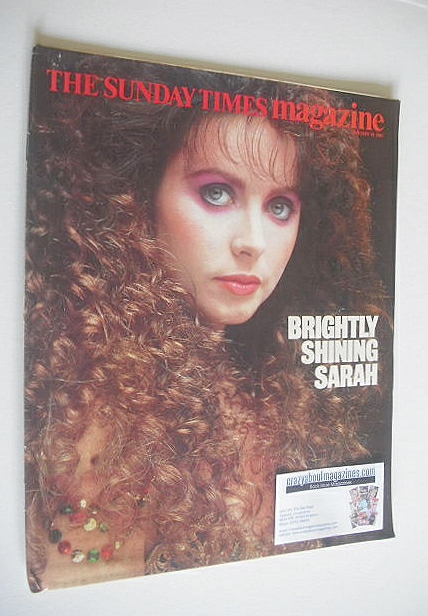 <!--1987-01-18-->The Sunday Times magazine - Sarah Brightman cover (18 Janu