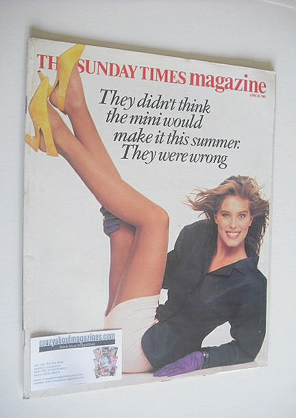 <!--1987-06-28-->The Sunday Times magazine - Renee Simonsen cover (28 June