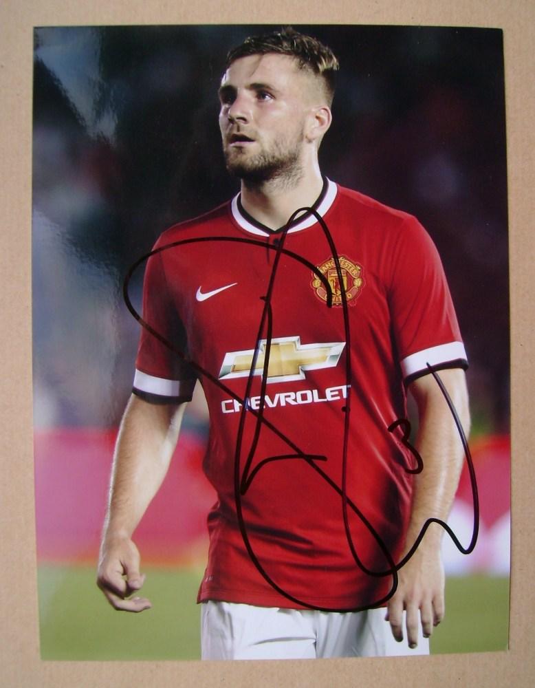 Luke Shaw autograph