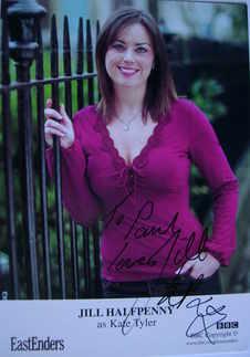 Jill Halfpenny autograph (ex EastEnders actor)